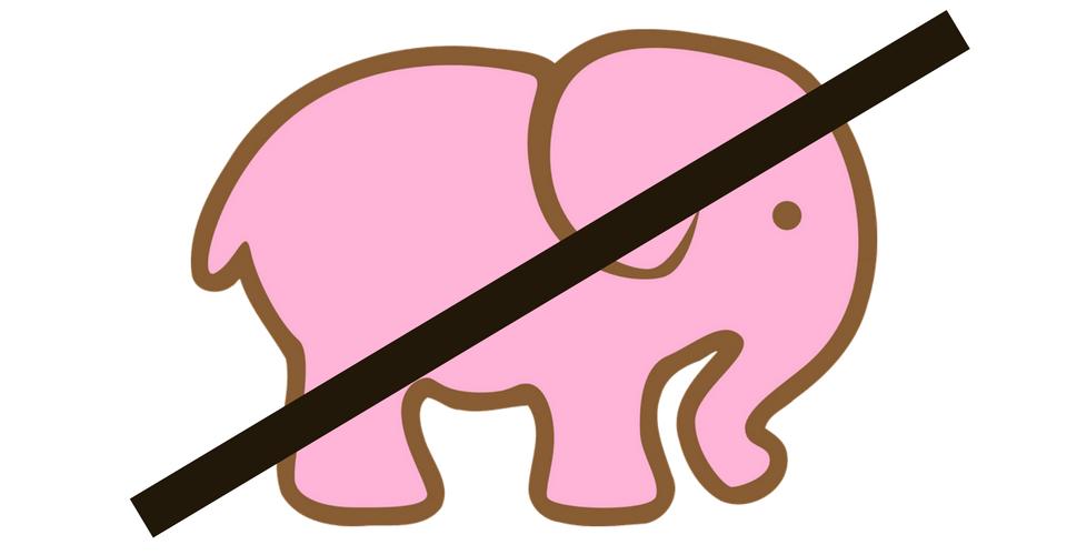 Prova a non immaginare un elefante rosa!