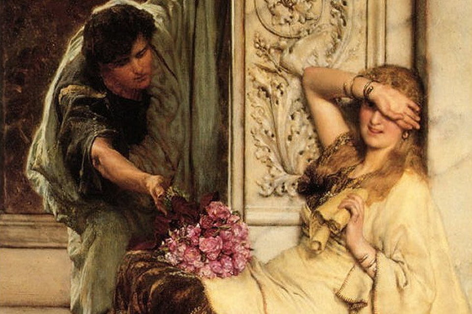 La timidezza - Lawrence Alma Tadema